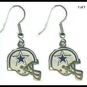 NFL Licensed Dallas Cowboy Helmet Earrings